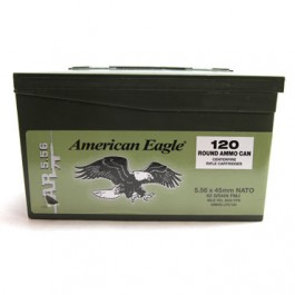 Federal American Eagle 5.56 NATO Ammunition 120 Rounds, 62 Grain XM855