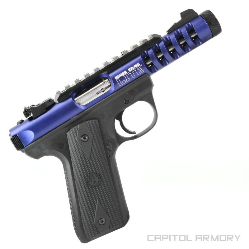 Ruger Mkiii 22 45 Lite Anodized Blue Capitol Armory